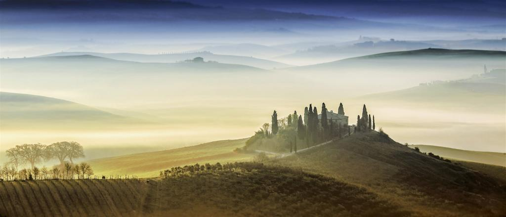 Dusk in Val D'Orcia by Janice Clark - CCC