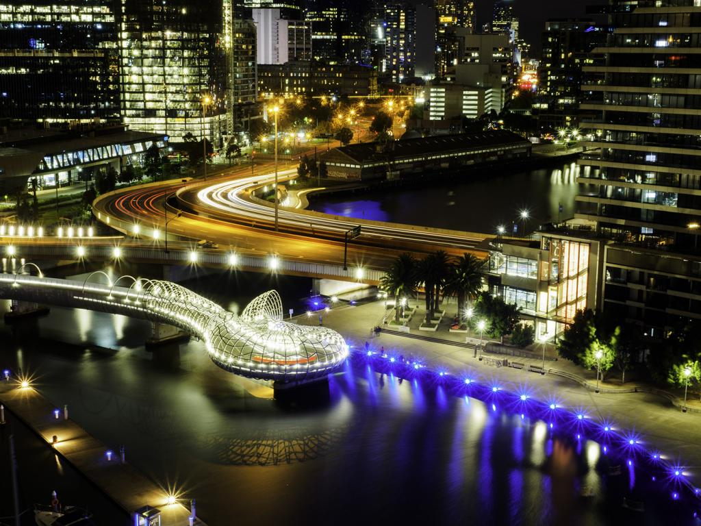 Docklands After Dark by David Reinhard