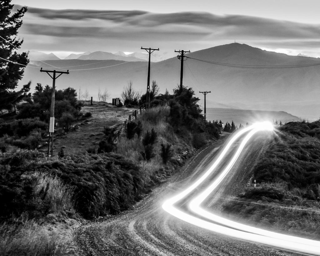Headlights in the Highlands by Liz Mann