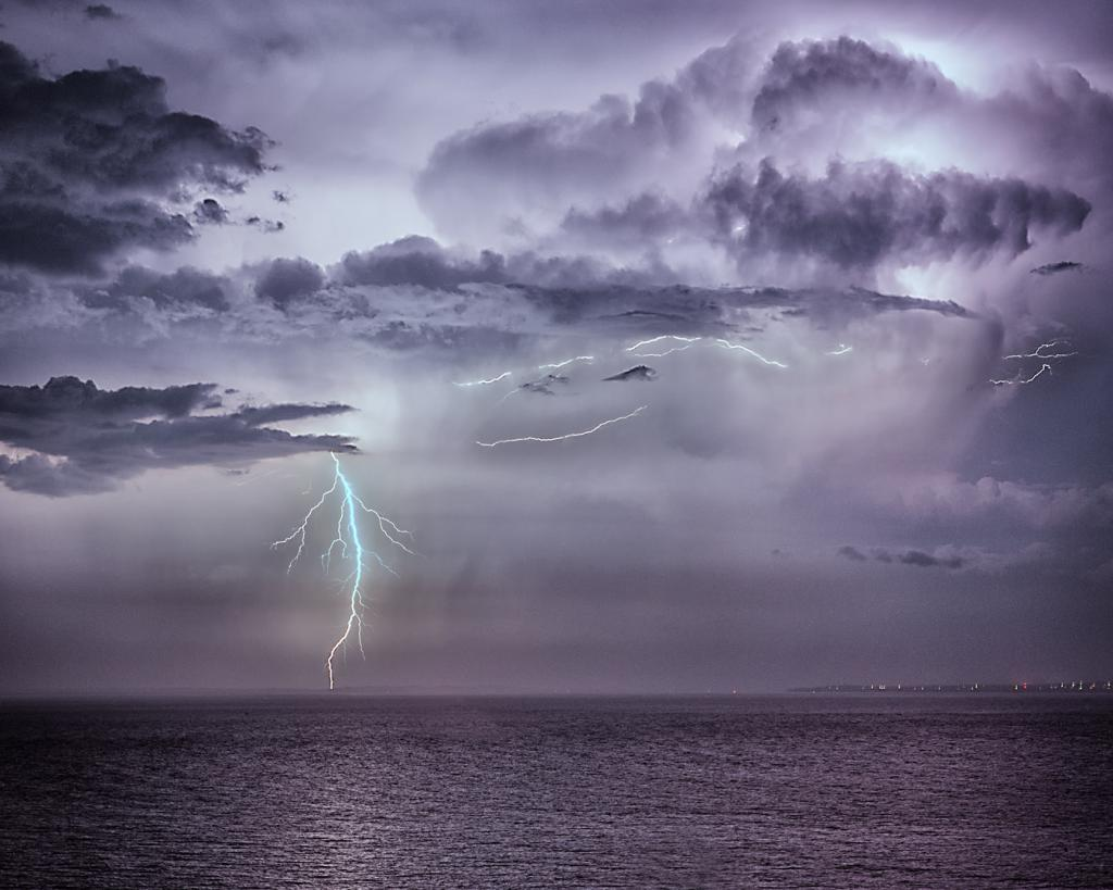 Lightning over Phillip Island by Mark Sutton
