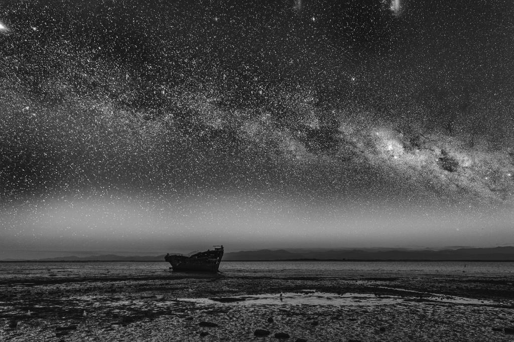 Milky Way on the Mudflats by Peter Calder