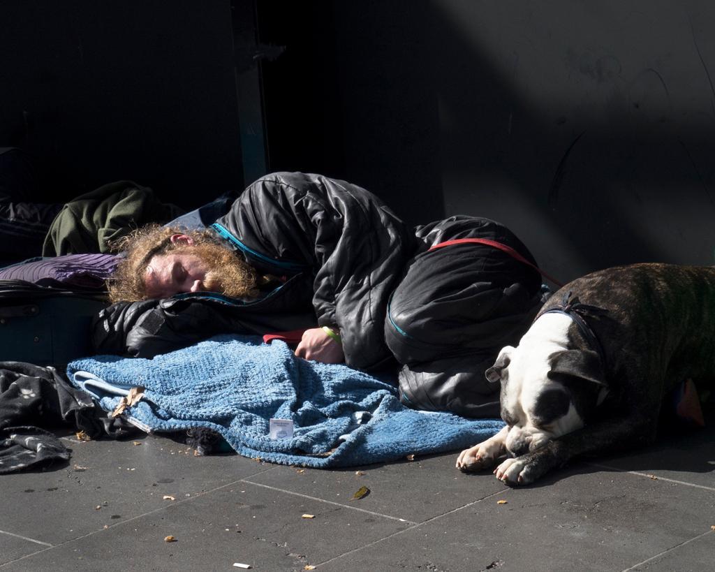 Mates Sleeping Rough by Gil Urquhart