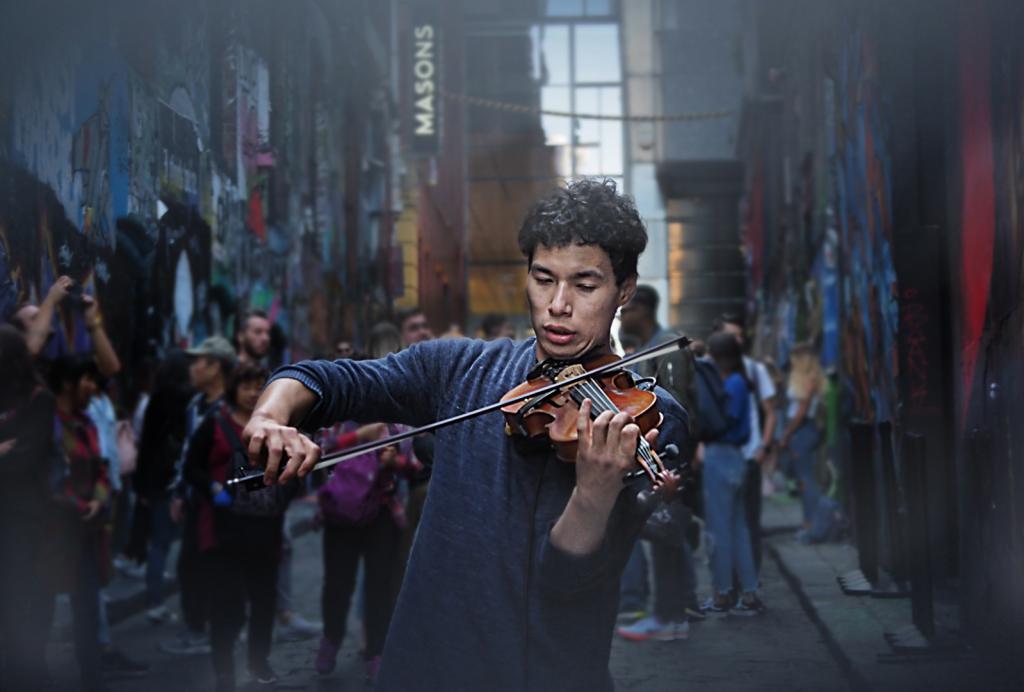 Street Violinist by Peter Hammer