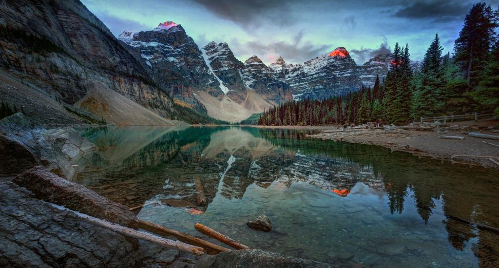 Moraine Lake at Sunrise by Peter Hammer