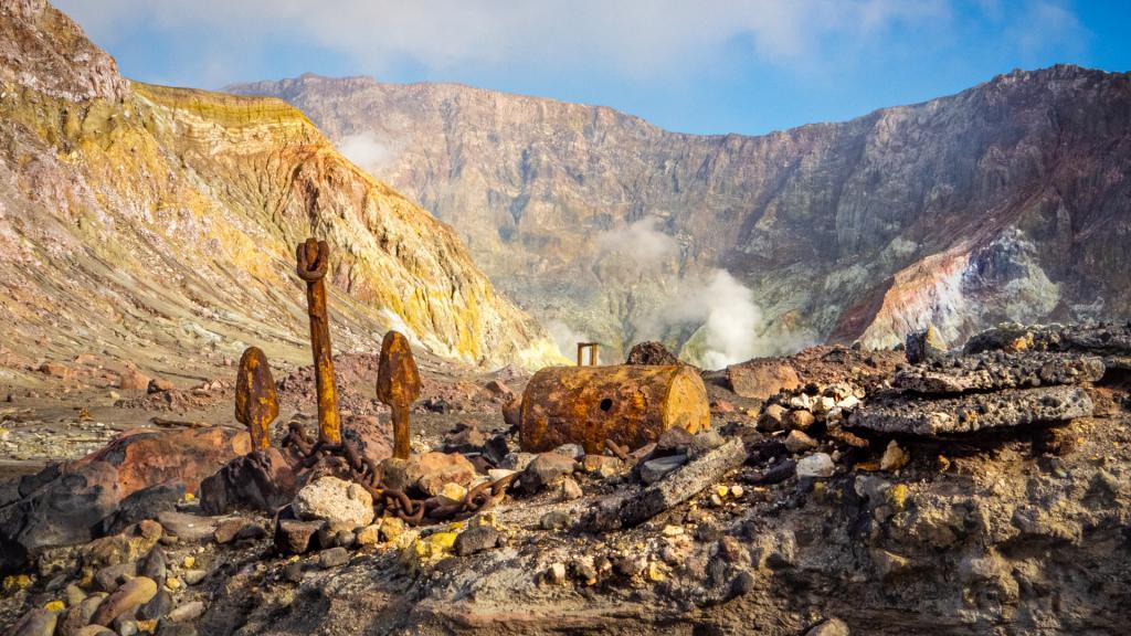 White Island Mine Ruins by Liz Mann