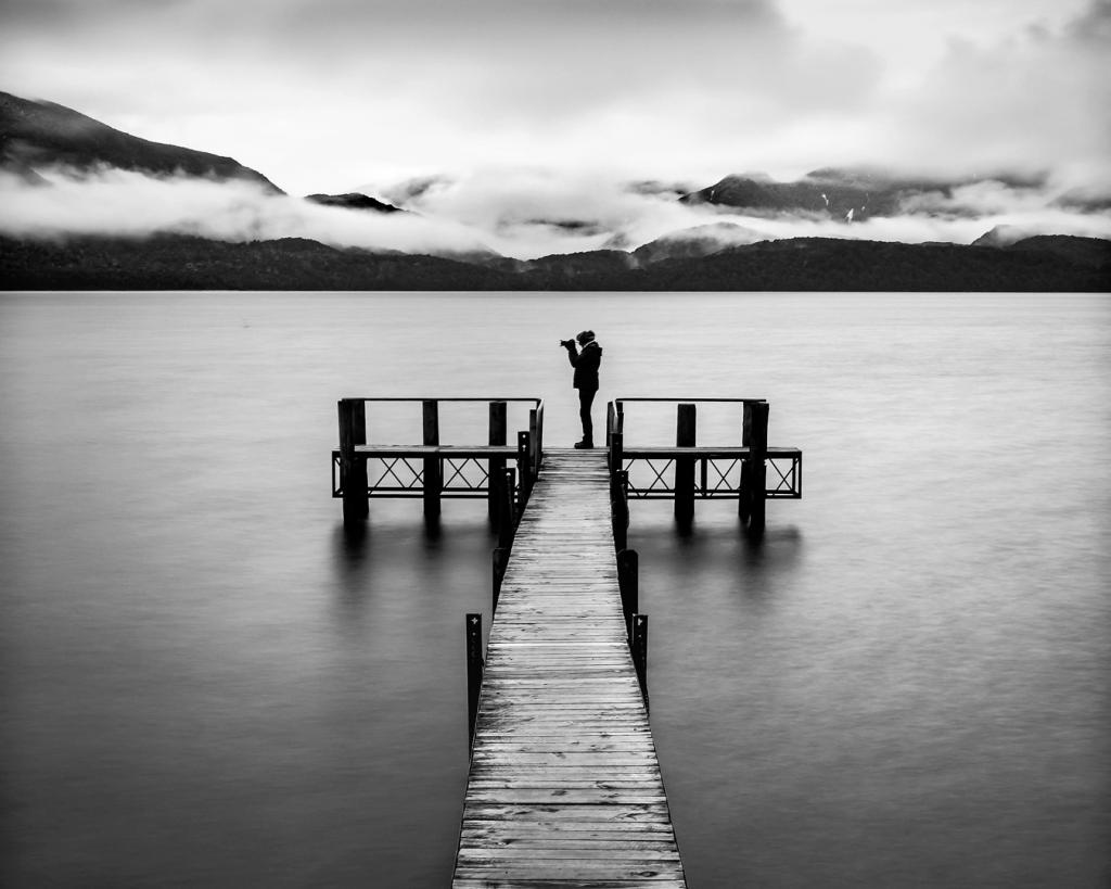Photographer at the Lake by Liz Mann