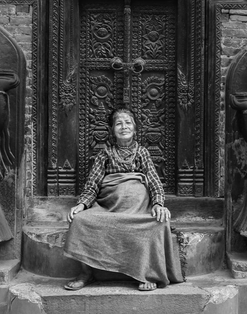 Bhaktapur Woman by Brian Seddon