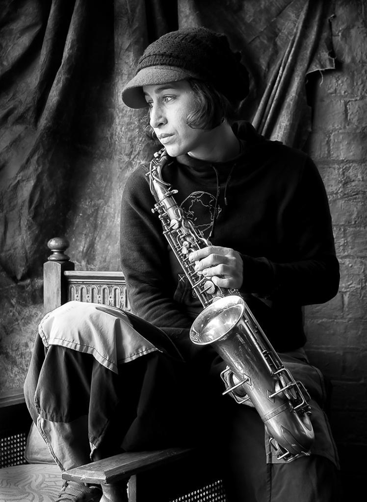 Sax Player by Michiko Iida