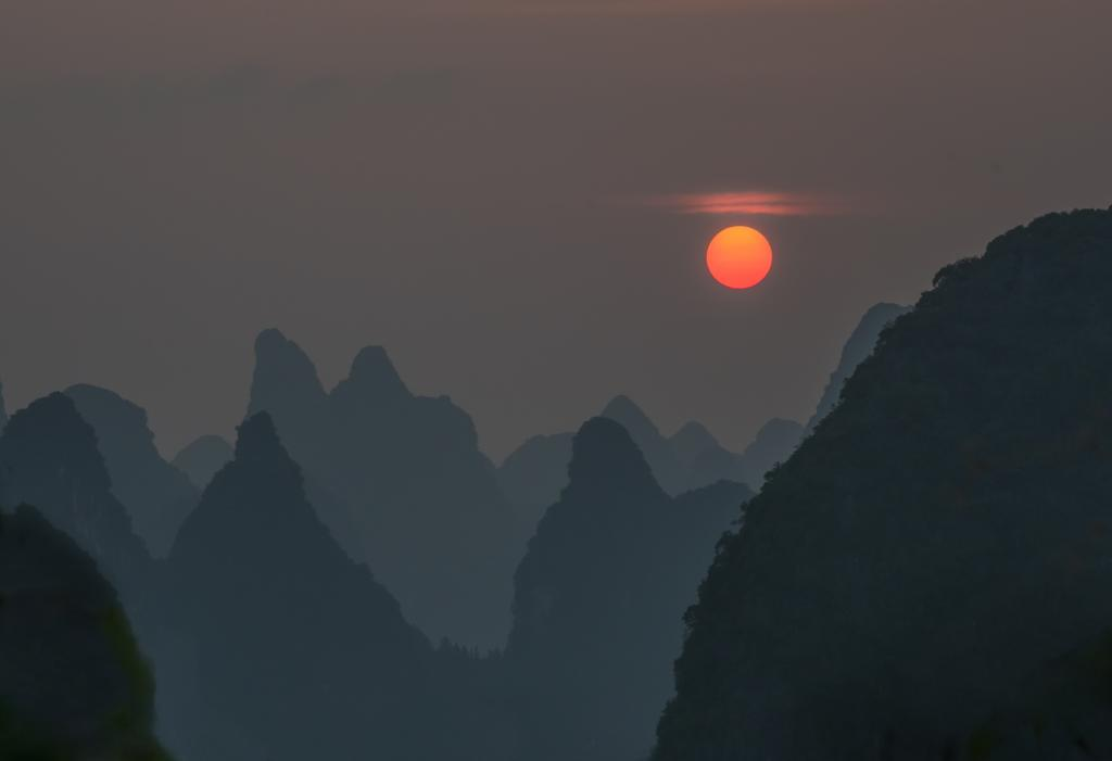 Xingping Sunset by Anne Seddon