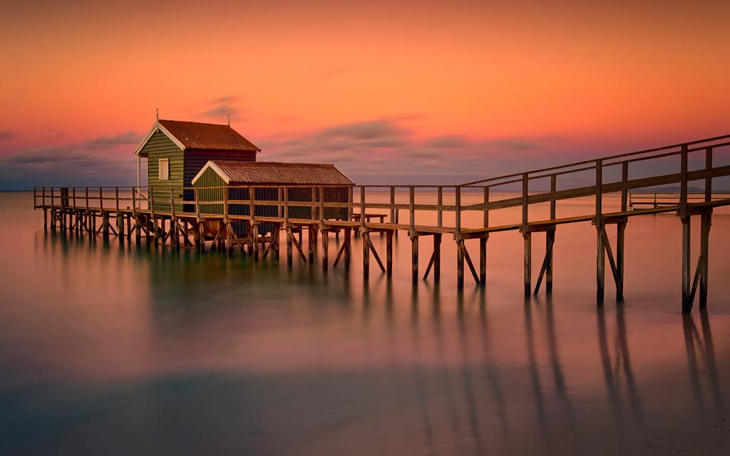 Shelly Beach Pier by Rose Marie Burns