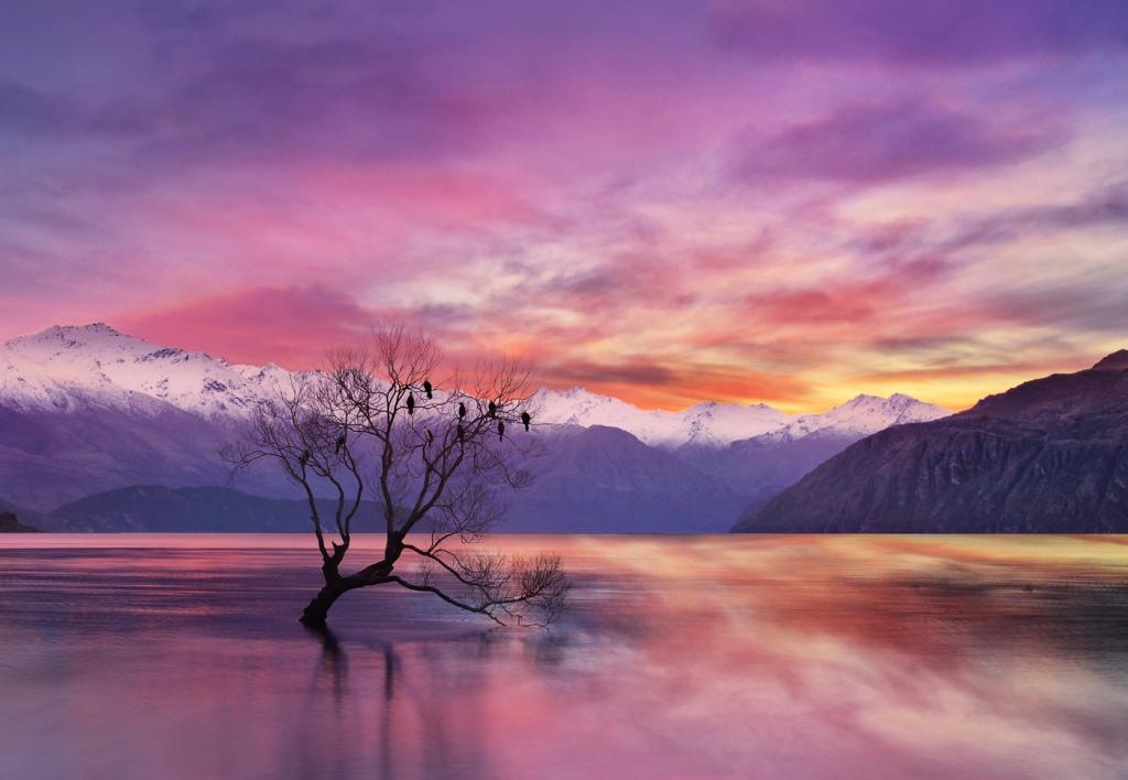 Sunset at Lake Wanaka by Peter Hammer - SSPS